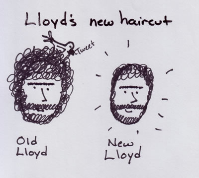 A masterful drawing capturing the very essence of Lloyd