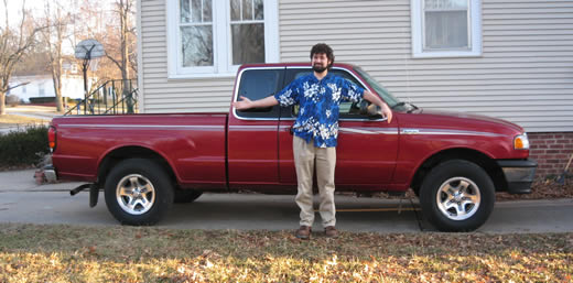 A man  and his shiny, shiny, shiny truck