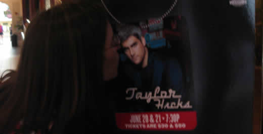 Next week Taylor Hicks will be in this very spot. Will Lauren and Annette go?