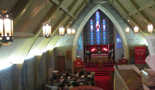 View from the choir loft