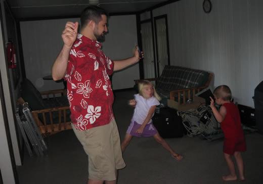 White boy can't dance.