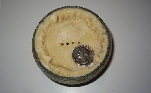unbaked quarter pie
