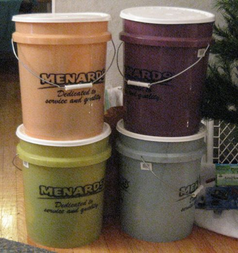 It was Lloyd's idea to use the buckets.  We have two others we're not using on Friday.