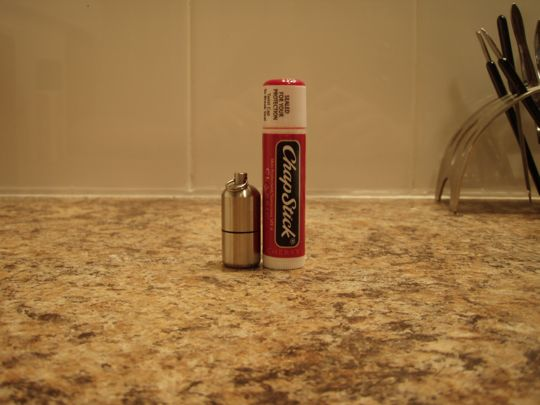 That's not a giant chapstick - it's a tiny lighter.