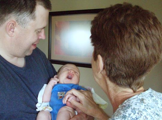 Mark,  Matthew & Nana