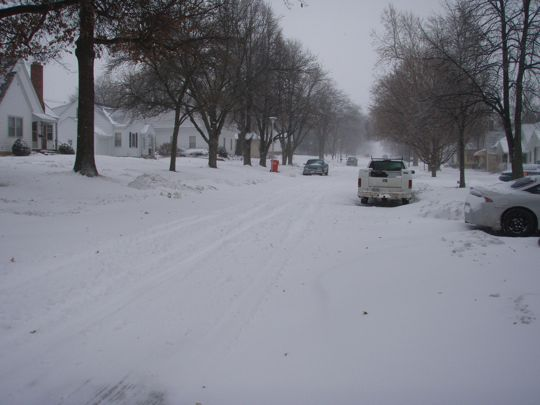 Our street will be the last to be plowed.  On Monday.