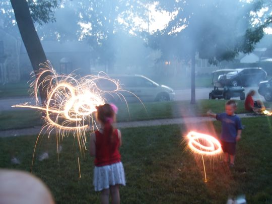 I found the fireworks setting on my camera.