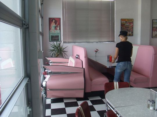 Look at that pink Cadillac bench.