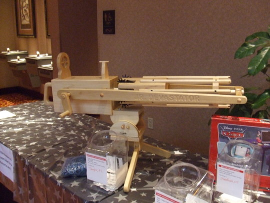 This big ol' rubber band gun was a prize.  We did not enter the drawing.
