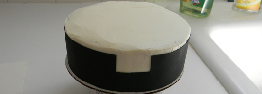 Clerical Collar Cake